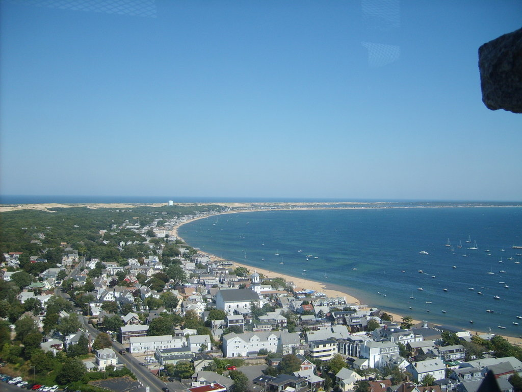 A view of Provincetown from the Pilgrim Monument