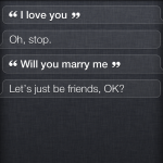 Siri responding to marriage proposal