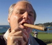 Rush Limbaugh smoking a cigar