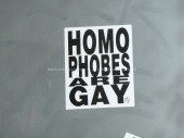 Homophobes are gay