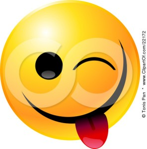 22172-clipart-illustration-of-a-yellow-emoticon-face-teasing-winking-and-sticking-his-tongue-out