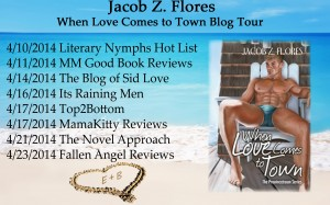 Jacob Flores when love comes to town blog tour copy